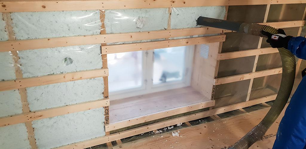 Lösullsisolering av väggar